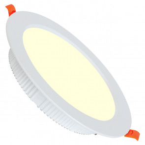 LED Downlight - Alexy - Inbouw Rond 12W - Warm Wit 3000K - Mat Wit Aluminium - Ø120mm