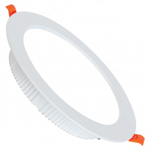 LED Downlight - Alexy - Inbouw Rond 30W - Helder/Koud Wit 6400K - Mat Wit Aluminium - Ø230mm