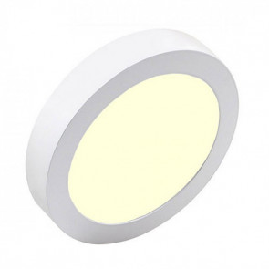 LED Downlight Pro - Aigi - Opbouw Rond 18W - Warm Wit 3000K - Mat Wit Aluminium - Ø227mm