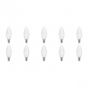 LED Lamp 10 Pack - Facto Candle - E14 Fitting - 6W - Warm Wit 3000K