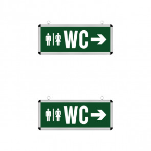 LED Noodverlichting 2 Pack - Rabonta WC - Hangend - 3W