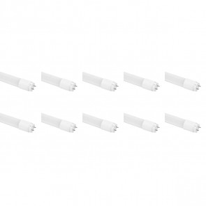 LED TL Buis T8 10 Pack - Aigi - 120cm 18W High Lumen 140 LM/W - Warm Wit 3000K